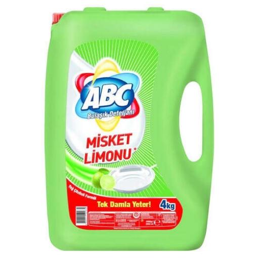ABC Bulaşık Deterjanı Sıvı 4 Kg. Misket Limonu resmi