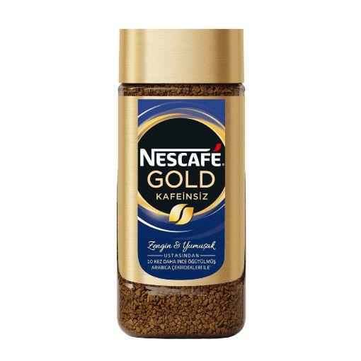 Nescafe Gold Kafeinsiz Kavanoz 100 Gr. resmi