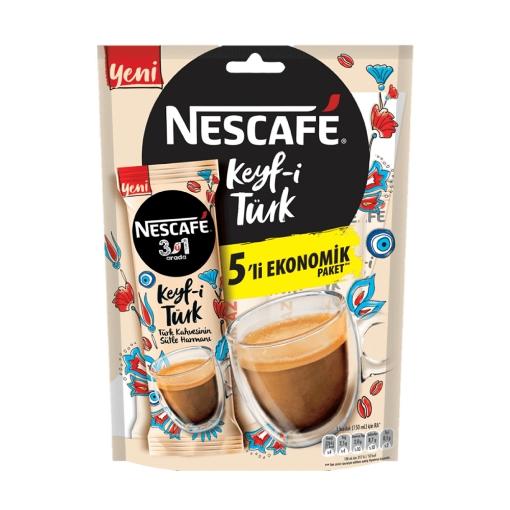 Nescafe Keyf-i Türk Kahvesi 3'ü 1 Arada 5*18,5 GR. resmi
