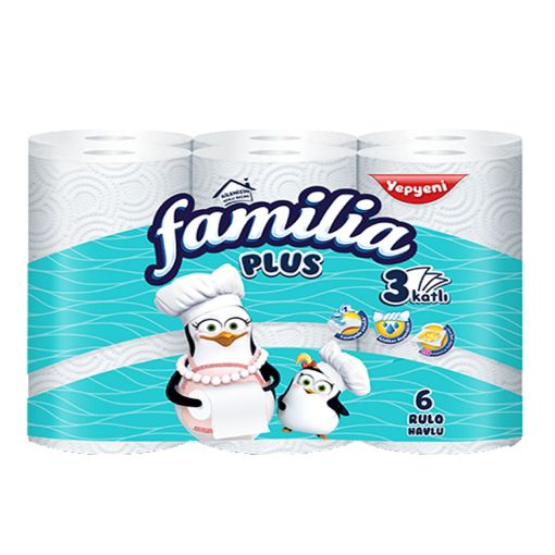 Familia Havlu 6'lı 3 Katlı Plus resmi