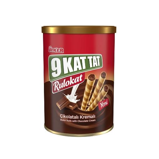 Ülker 9 Kat Tat Rulokat Çikolatalı 170 Gr. resmi
