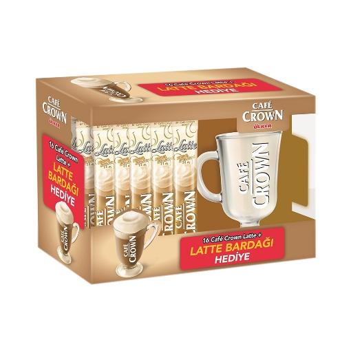 Ülker Cafe Crown Latte Bardak Hediyeli 16x17 Gr. resmi