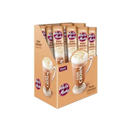 Ülker Cafe Crown Beyaz Çikolatalı Mocha 24x20 Gr. resmi