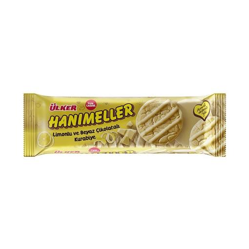 Ülker Hanımeller Limonlu ve Beyaz Çikolatalı Kurabiye 138 Gr. resmi