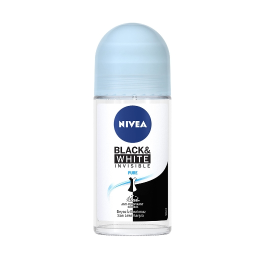 Nivea Deo Roll-On 50 ml. Women İnvisible B&W Clear resmi