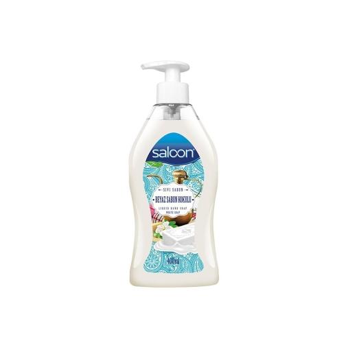 Saloon Sıvı Sabun 400 ml. Beyaz Sabun Kokulu resmi
