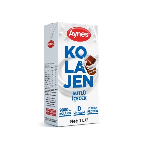 Aynes Süt Kolajen Çikolatalı 1 Lt. resmi
