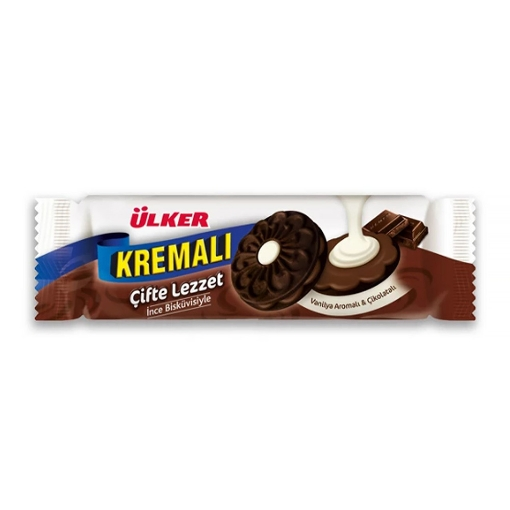 Ülker Kremalı Kakaolu Bisküvi 84 Gr. resmi