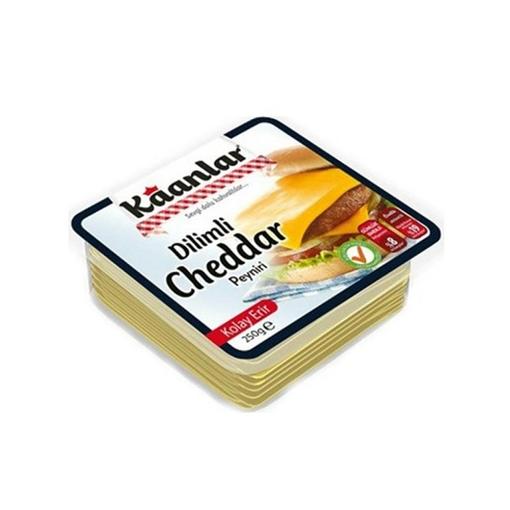 Kaanlar Peynir Cheddar Dilimli 250 Gr. resmi