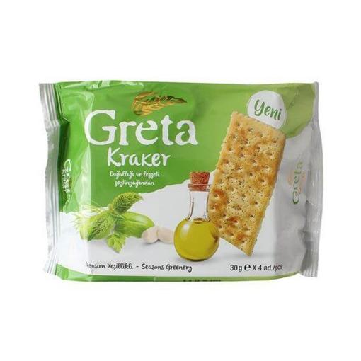 Şölen Greta Mevsim Yeşillikli Kraker 4x30 Gr. resmi