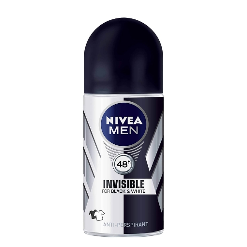 Nivea Deo Roll-On 50 ml. Men İnvisible B&W Power resmi