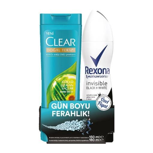 Rexona Kfr. Deo 150 ml. Inv. B White + Clear 180 ml. resmi