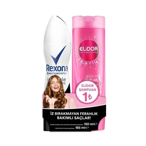 Rexona Kfr. Deo 150 ml. Women Inv. B White + Elidor 200 ml. resmi