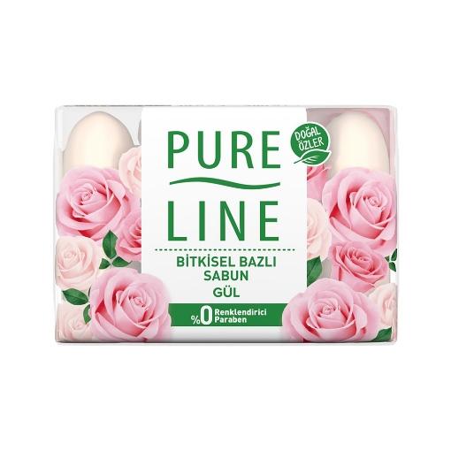 Pure Line El Sabunu 4x70 Gr. Gül resmi