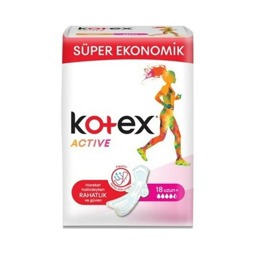 Kotex Active Dörtlü Eko Uzun 18'li resmi
